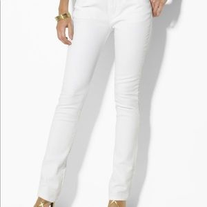 Ralph Lauren Classic Straight White Jeans Size 6
